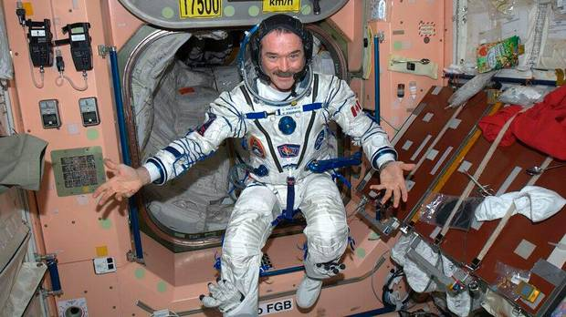 "Chris Hadfield says it's ""good to know"" his suit still fits after five months in orbit ~ Chris Hadfield CSA/NASA Photo"