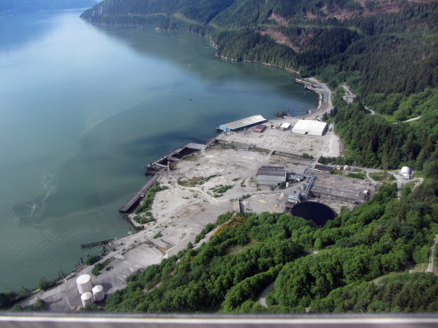 The proposed Woodfibre LNG Project processing and export facility, to be located near Squamish, BC ~Woodfire LNG